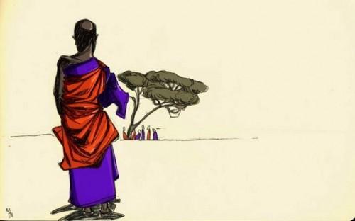 Donna africana disegno di Esmeralda